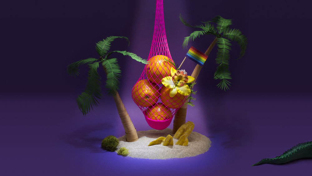 Florida themed illustration for    Where Can We Find Queer Space After Pulse?    – John Birdsall