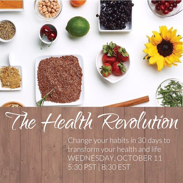 R E V O L U T I O N • have you ever suffered from digestion issues, fatigue, brain fog and lack of focus, bloating or gas, trouble sleeping, can't lose weight, hit a plateau with workouts or weight loss? #MeToo •  Tonight I will be sharing how to CHANGE YOUR HABITS to CHANGE YOUR HEALTH and CHANGE YOUR LIFE... in just 30 days. I have some beautiful clients who will be sharing their journey as well! This is a PRIVATE Facebook live event.. if you want to tune in yourself, please let me know and I'll add you!! I'm so excited to share my passion with you! #ChangingHealth #ChangingLives #revolution30 #thehealthrevolution