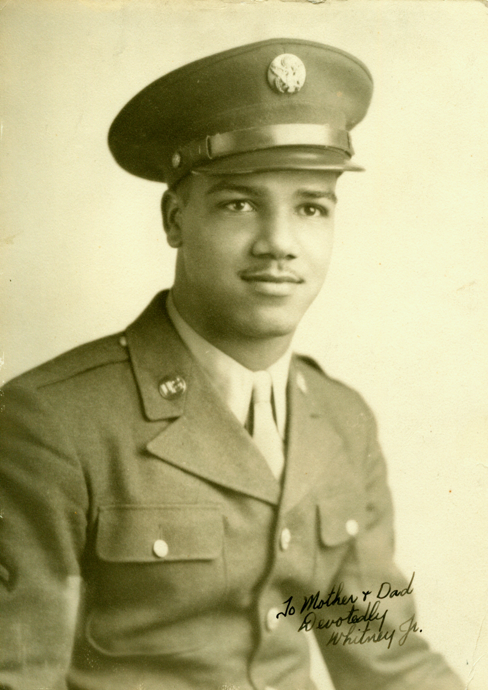 Young served in a segregated unit in the Army during World War II