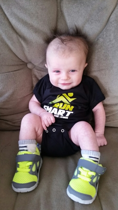 William is certainly ready to cheer for daddy at the 2015 Buffalo Marathon!