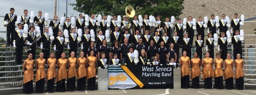 Mile 17.5 (Delaware Park): West Seneca Marching Band