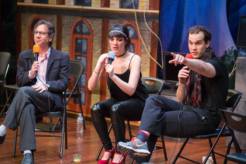 Leading a talk-back at B Street Theatre