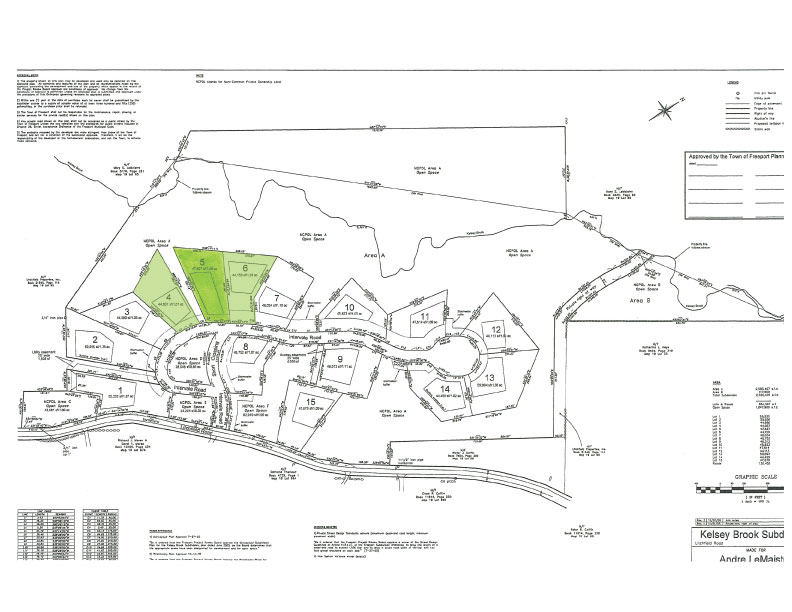 Lot Plan - Lots 4, 5, and 6 are the only remaining lots available (1.22.18)