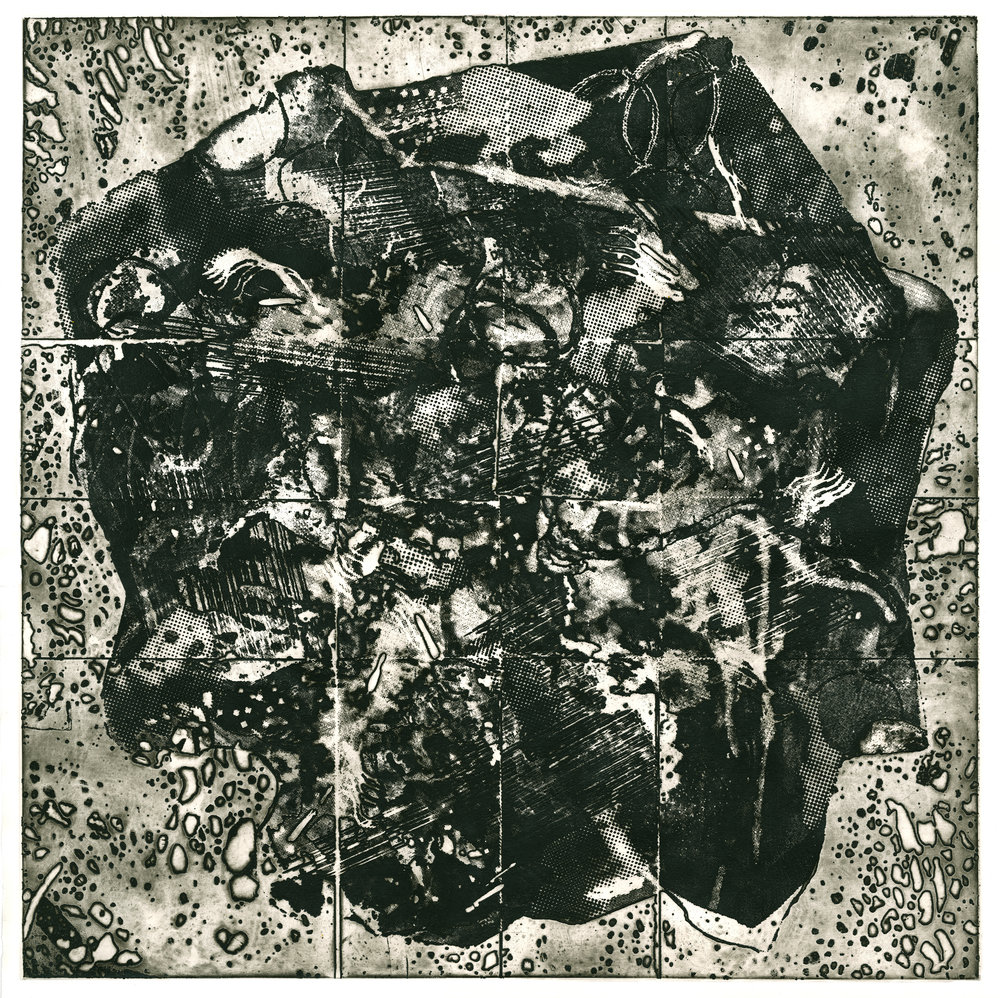 Collapse, Intaglio, 20 x 20 in. 2016.