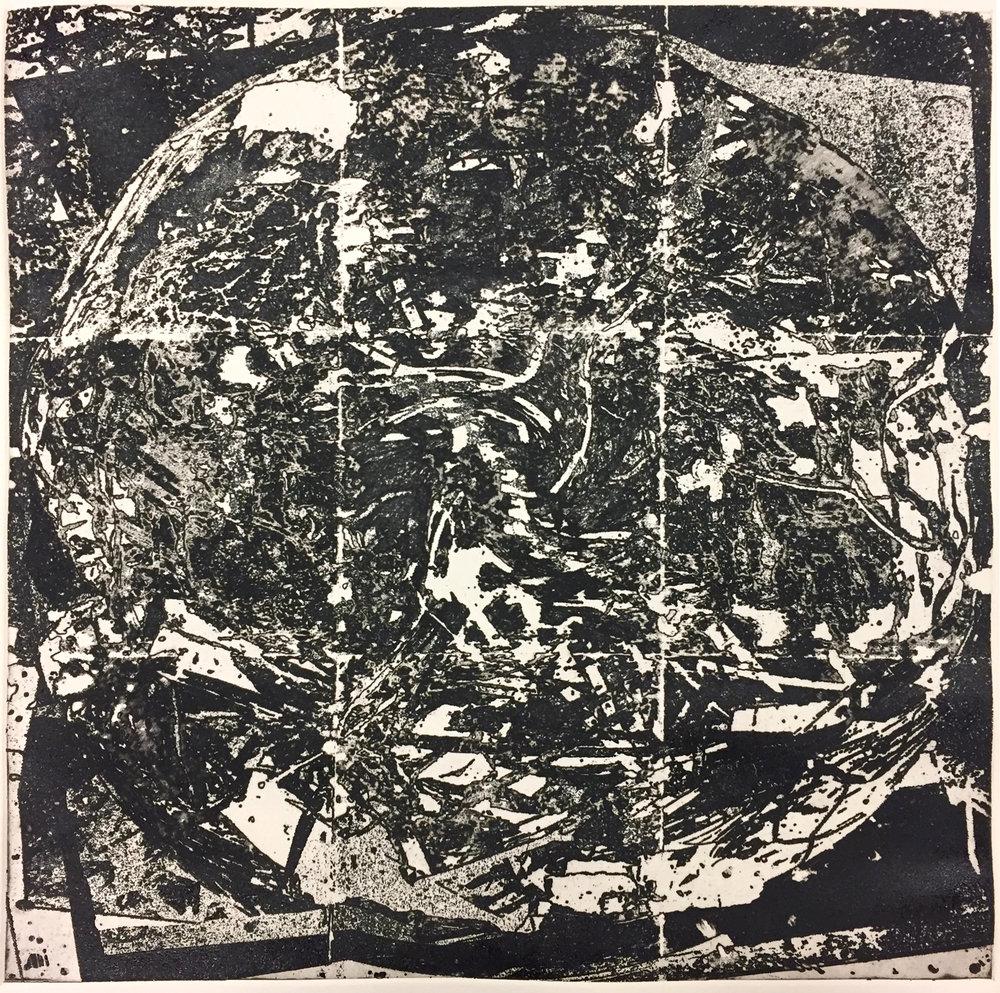 Transmission. Intaglio, 20x20 in. 2017.