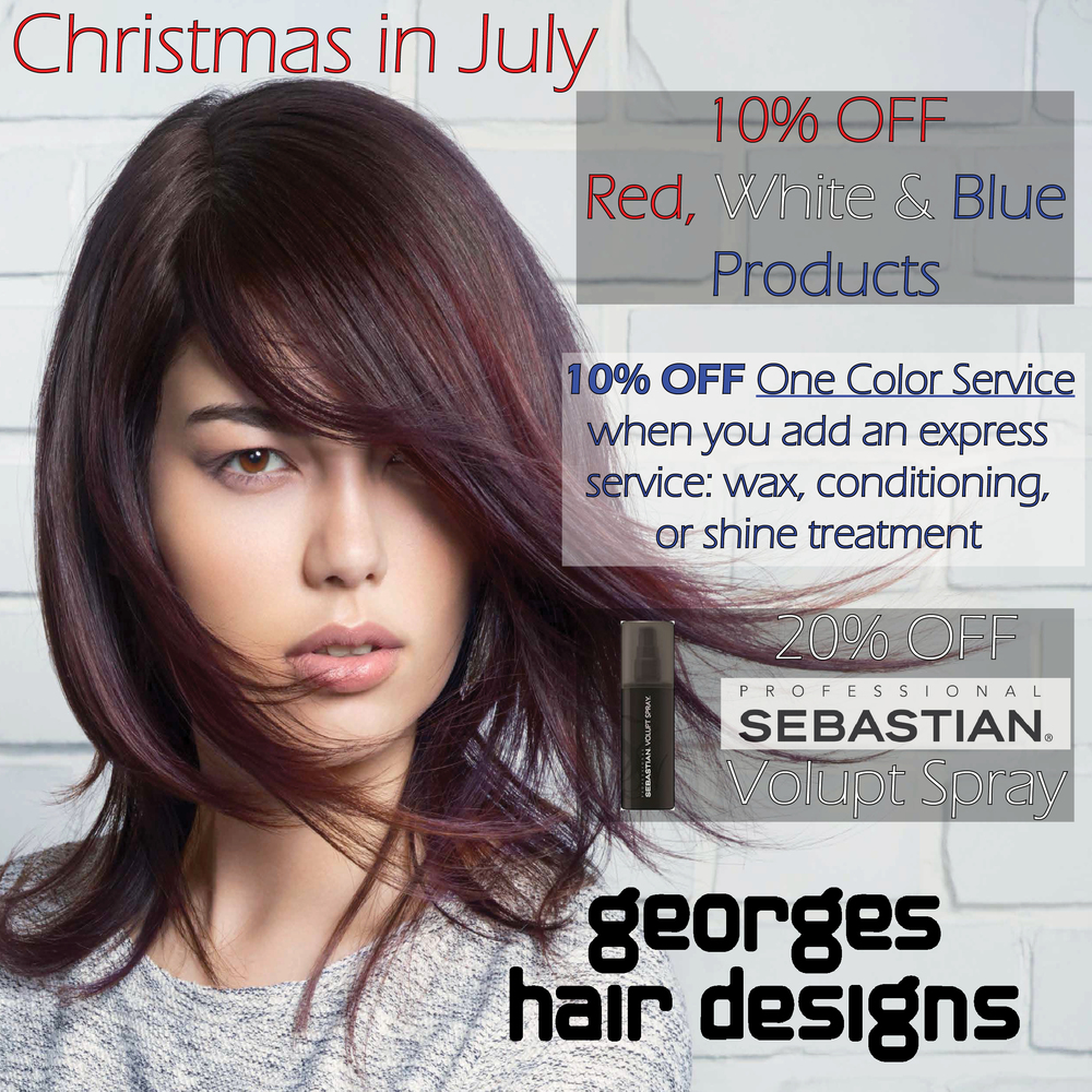 Christmas In July July Promotions Georges Hair Designs