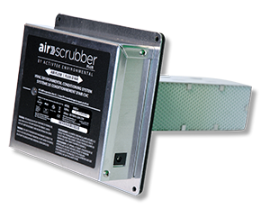 "Air Scrubber Plus incorporates NASA ethylene-scrubbing technology. The device is installed into home ventilation systems, which disseminate the product's ""friendly cleaners"" that kill pathogens in the air and on surfaces."