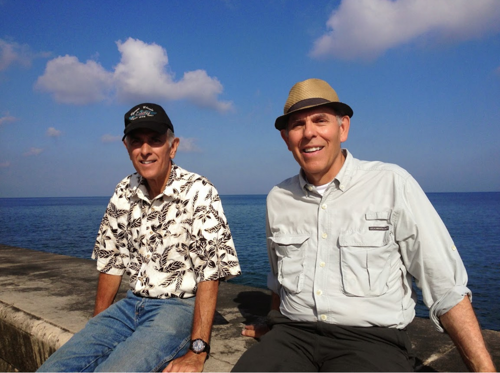 Dick and Bob on the Seawall at Havana, 2014