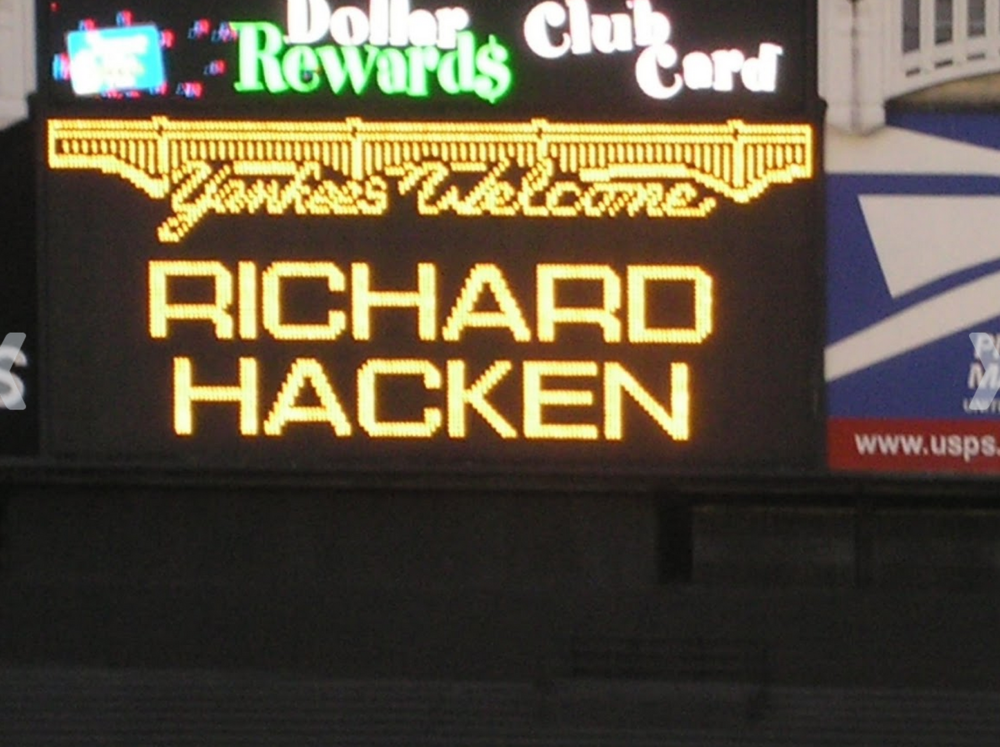 My Name in Lights at Yankee Stadium