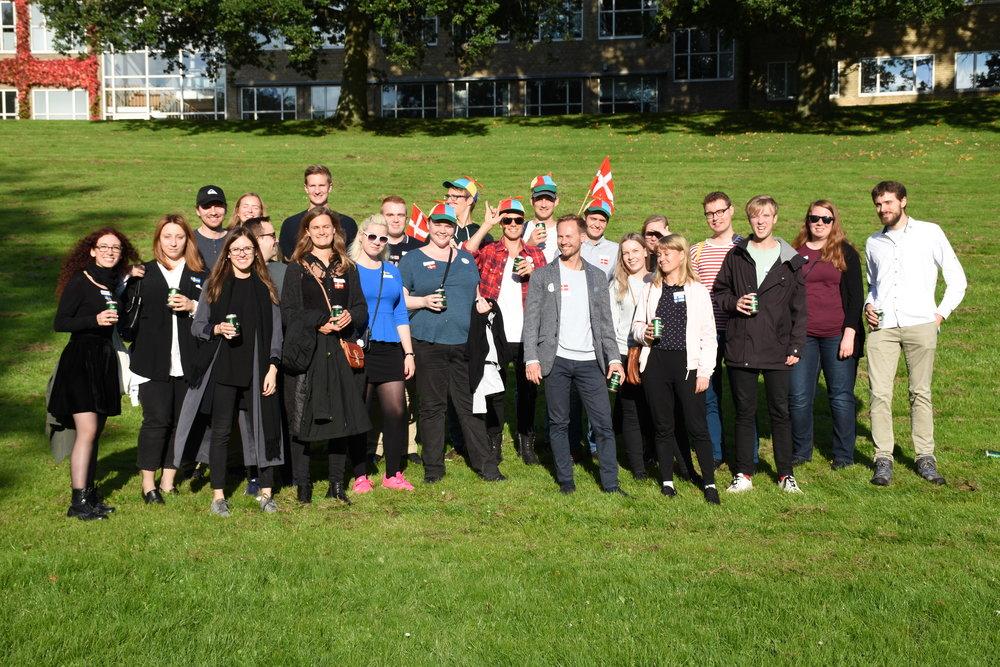 Gruppebillede fra Café Norden i Aarhus 2017