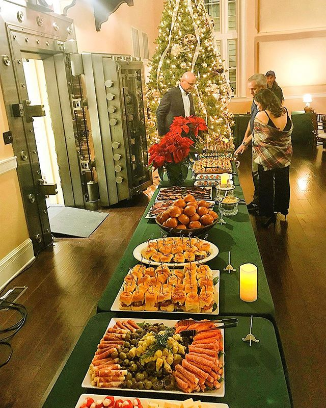 One from the Vault. We can cater anywhere! Even if we have to set up our mobile kitchen in a bank vault. Thanks to @bnchwrks for having us cater your holiday party again this year. @thad_bench @renee.bench #hooperscatering #onefromthevault #catering #cheflife #benchworks #chestertown #annapolis #maryland #grateful #holidayparty #happyholidays