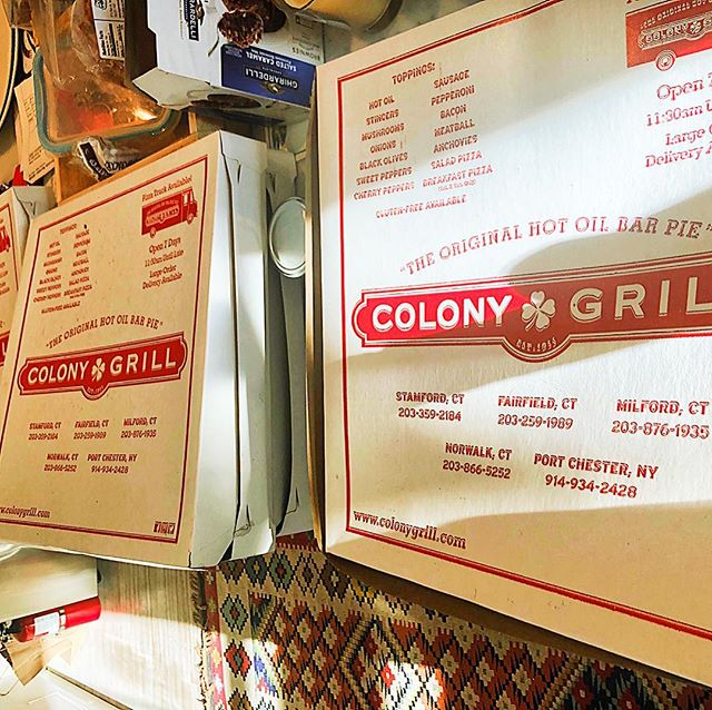 Nothing like some Colony pizza on New Year's day. Its tradition when visiting our CT crew. Best pizza in America. #colonygrill #cheflife #newyearstradition #hotoilpizza #hooperscatering #catering
