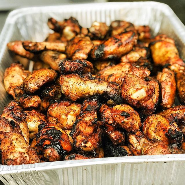 GAME DAY FOLKS! We are making our smoked wings today  for a big ole Super Bowl party! What are you serving for the big game? #hooperscatering #annapolis #maryland #wings #smokedmeat #chickenwings #footballfood #superbowlfood #catering #cheflife