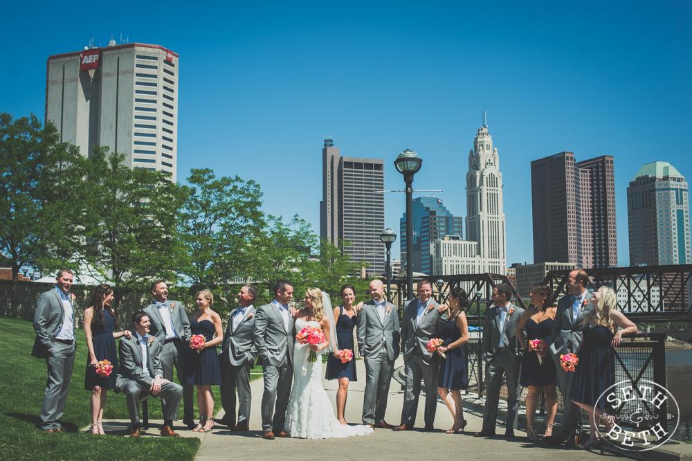 Weddings at Northbank Park by Seth and Beth - Wedding Photographer Columbus, Ohio.