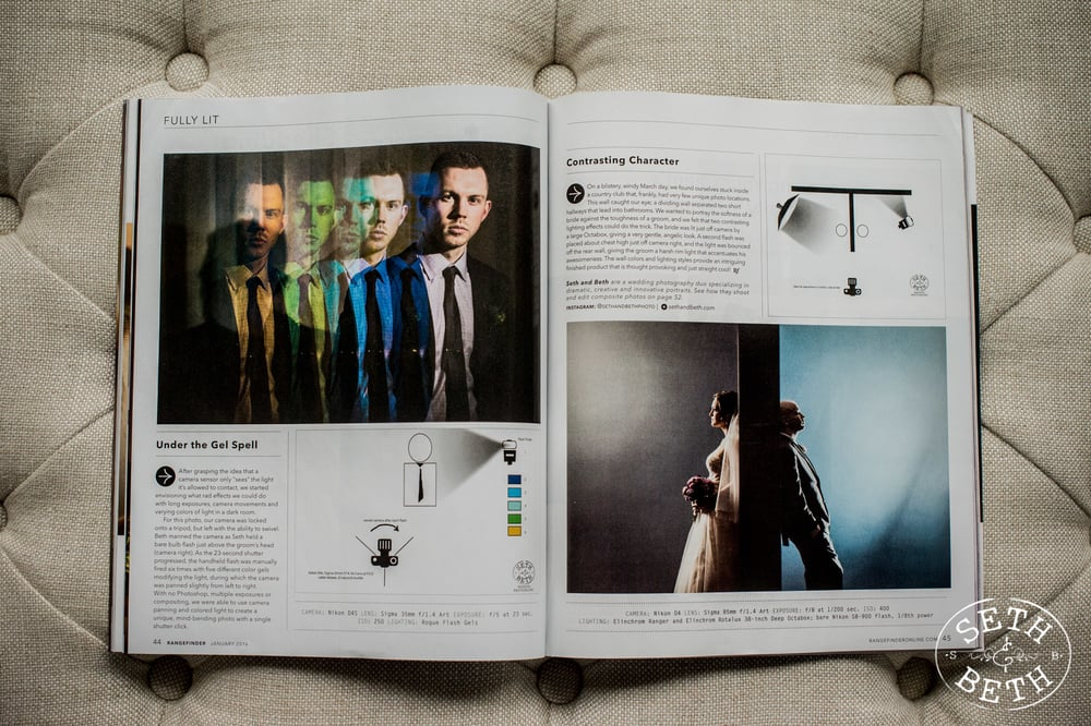 Seth and Beth Wedding Photography in Columbus Ohio Rangefinder Magazine Feature