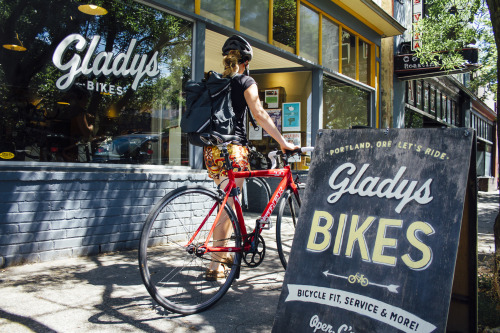 Gorgeous Gladys Bikes in Portland OR. Photo courtesy of   Ashley Anderson Photography  .