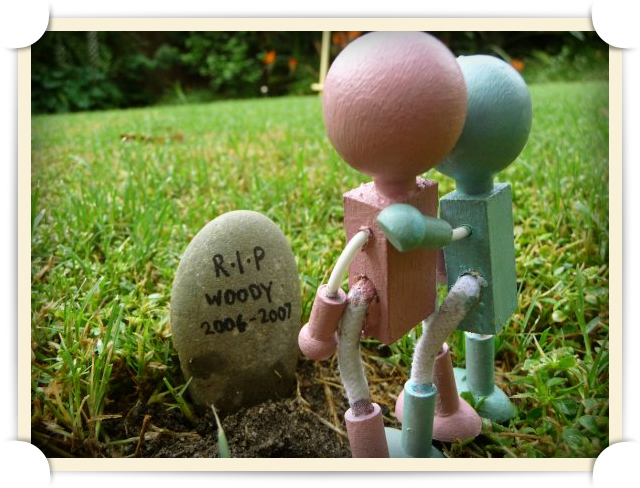 On a gloomy afternoon, a year after Woody B. Lumberson goes M.I.A, Mr. and Mrs. Lumberson assume the worst and erect his tombstone in memoriam.