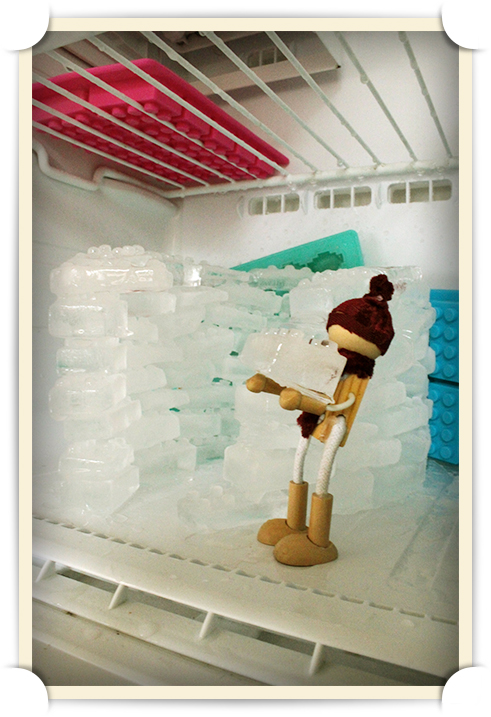 Woody B. Lumberson prepares for the frosty Winter by building himself an igloo by the Samsung Ice Shelf.