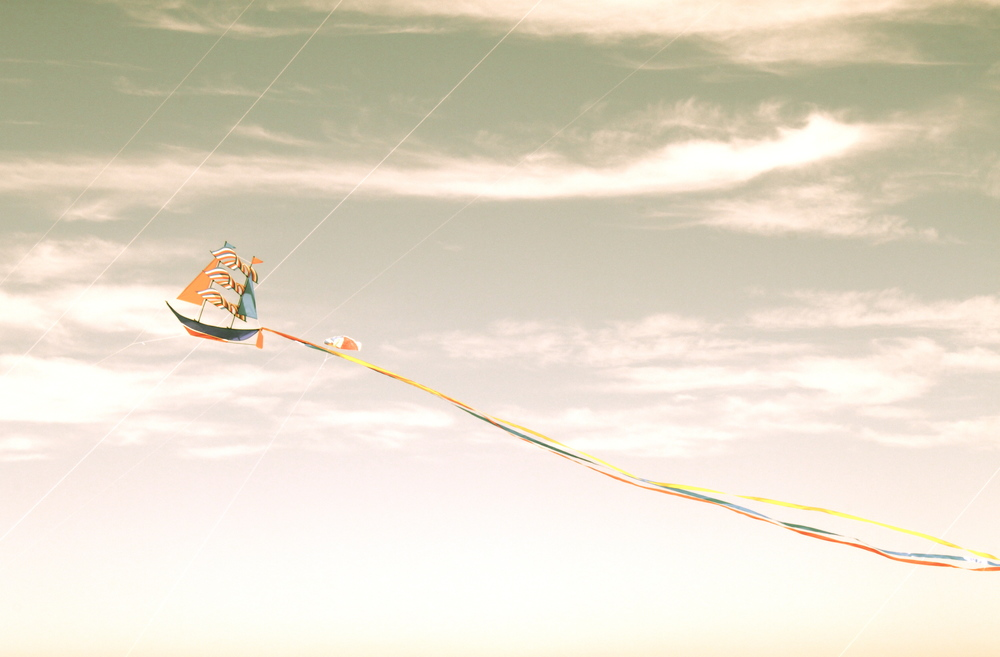 A kite sails the skies at the Bondi Kite Festival in Sydney, Australia.