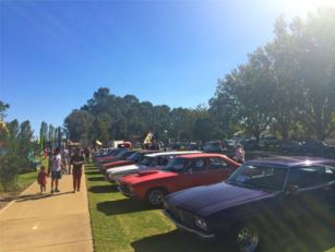 "Amusements and, Car and Kombi displays in IOOF Park ~ PC ""Anything But Marzipan"""
