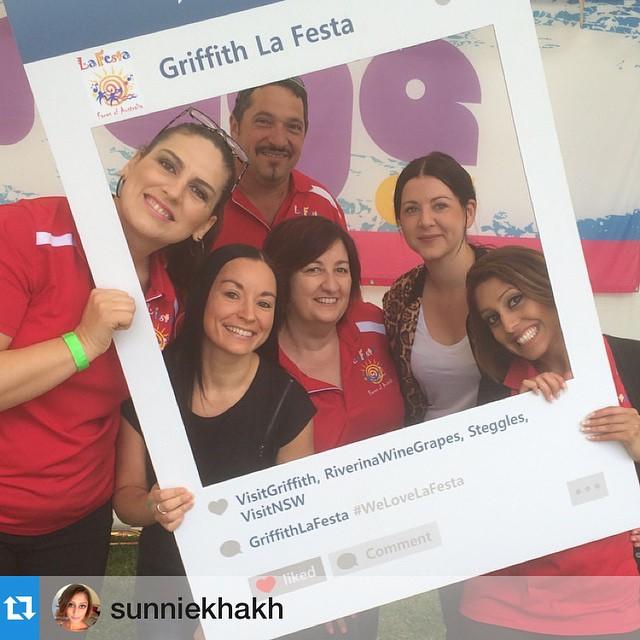 Faces of La Festa 2015! 🌻 📷: @sunniekhakh #welovelafesta #myteam #gourmetcucina #goodday #griffith @jacindabadoco @griffithlafesta