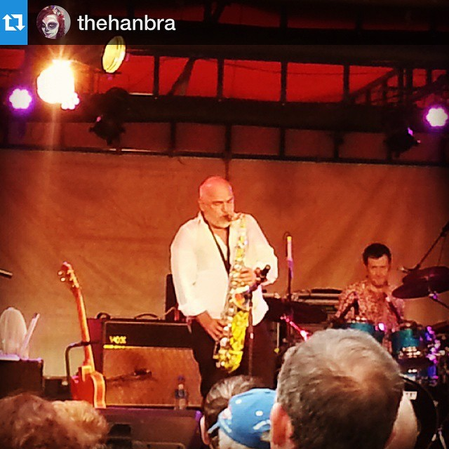 "🎸 In the words of @thehanbra the ""Man stills blows a mean horn!"" #JoeCamilleri #BlackSorrows #music #welovelafesta #Griffith"