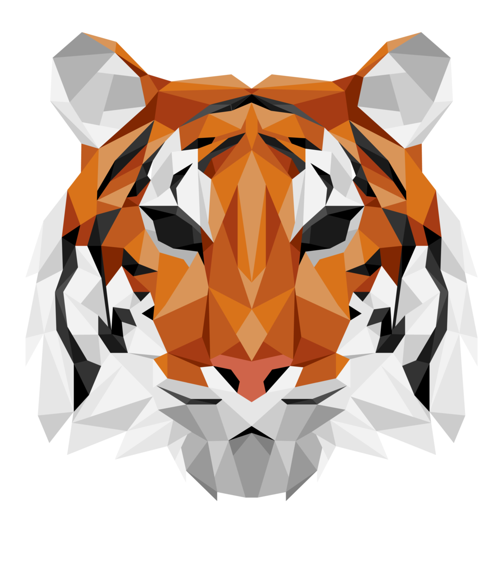 Geometric Tiger Design done by Ethan Livingstone