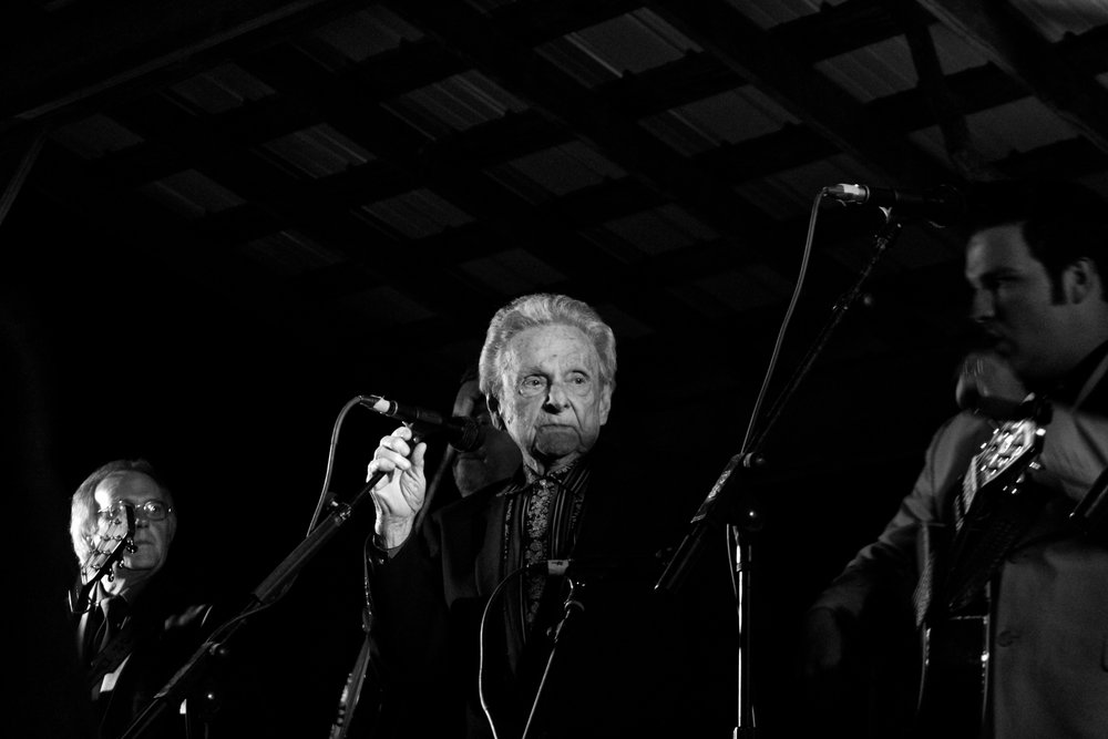 Ralph Stanley & the Clinch Mountain Boys. Muddy Roots Spring Weekender, Nashville, IN. 2014.