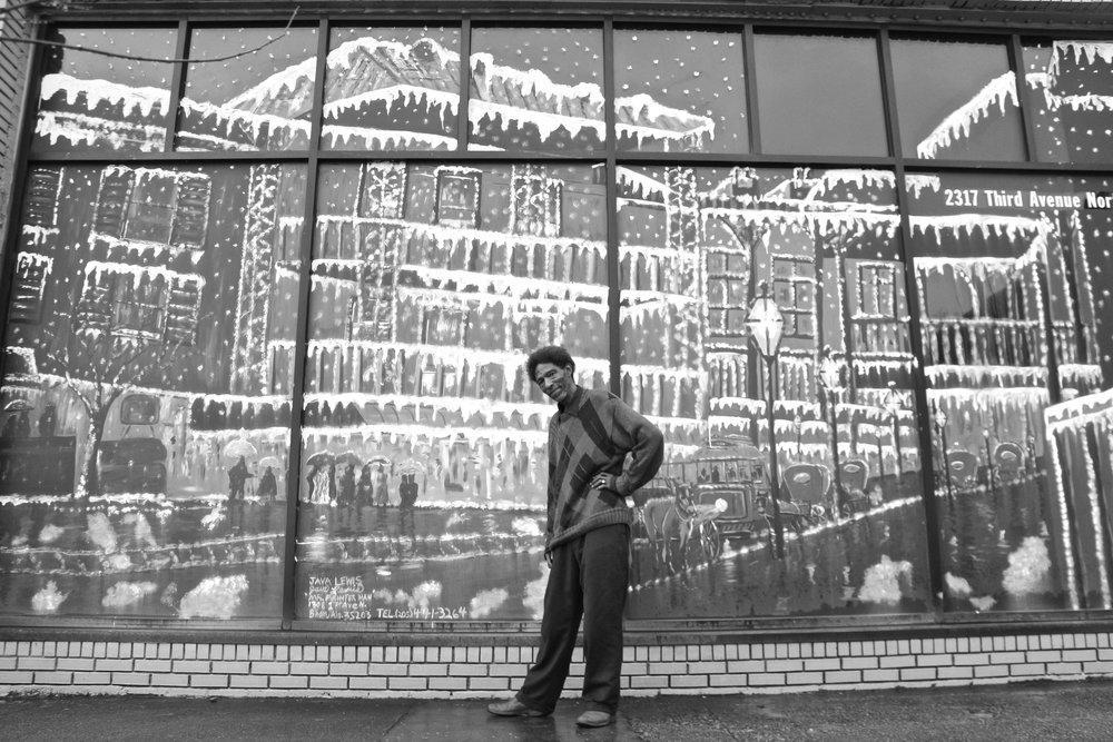 Birmingham artist Java Lewis. Birmingham, AL.