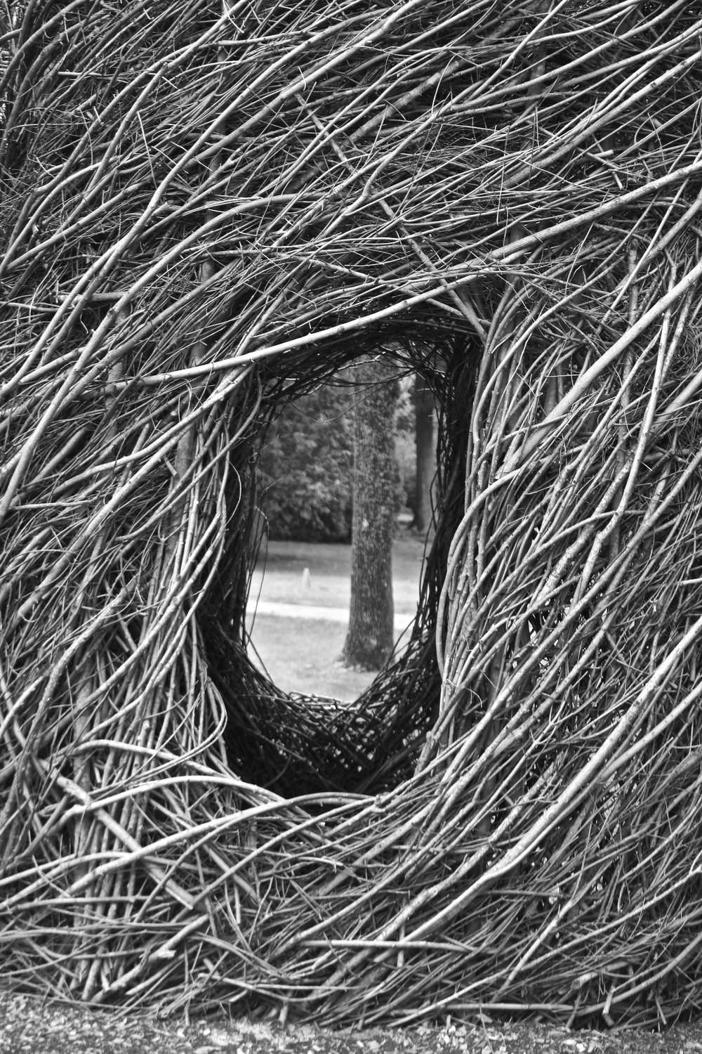 Little Bitty Pretty One by Patrick Dougherty, Cheekwood Botanical Garden, Nashville, TN.