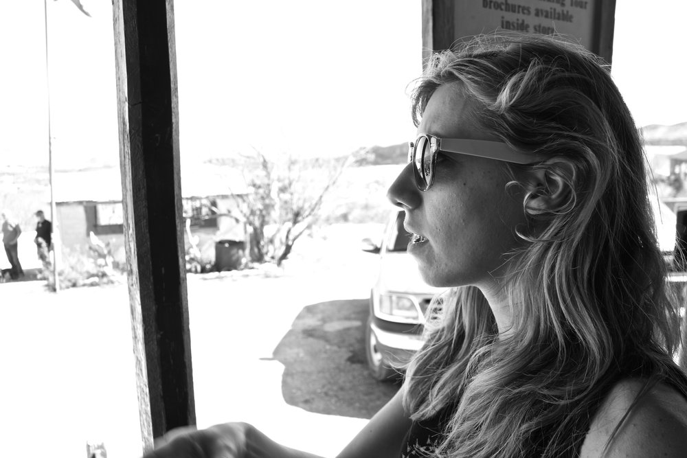 Meredith in Terlingua.