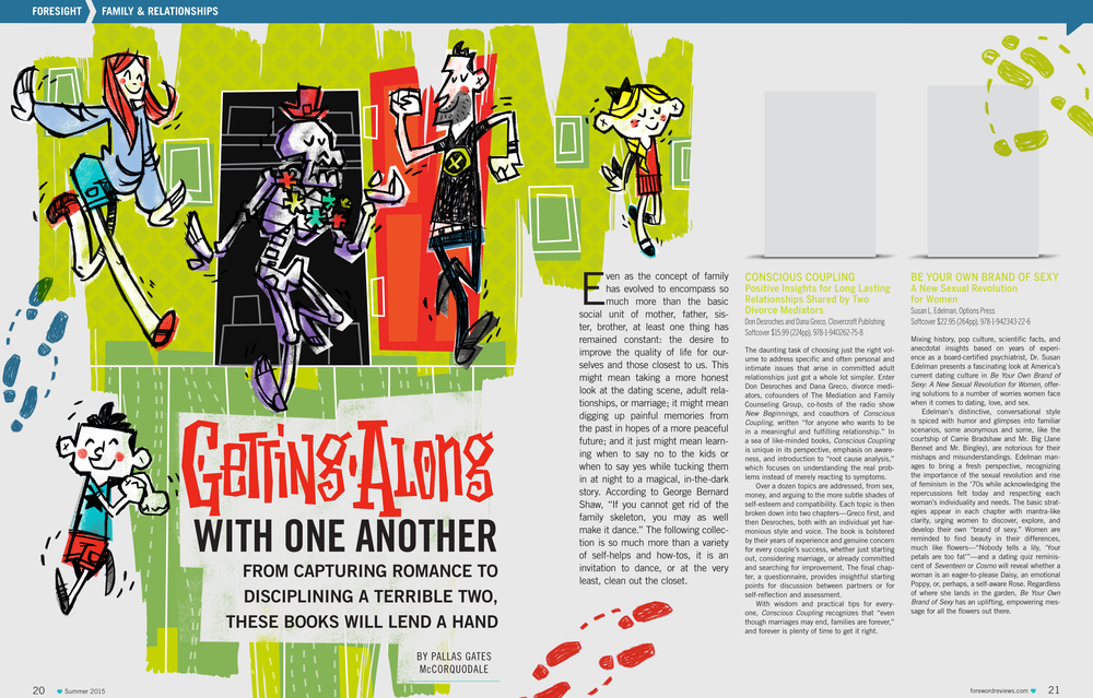 Getting Along Illustration and Title Design