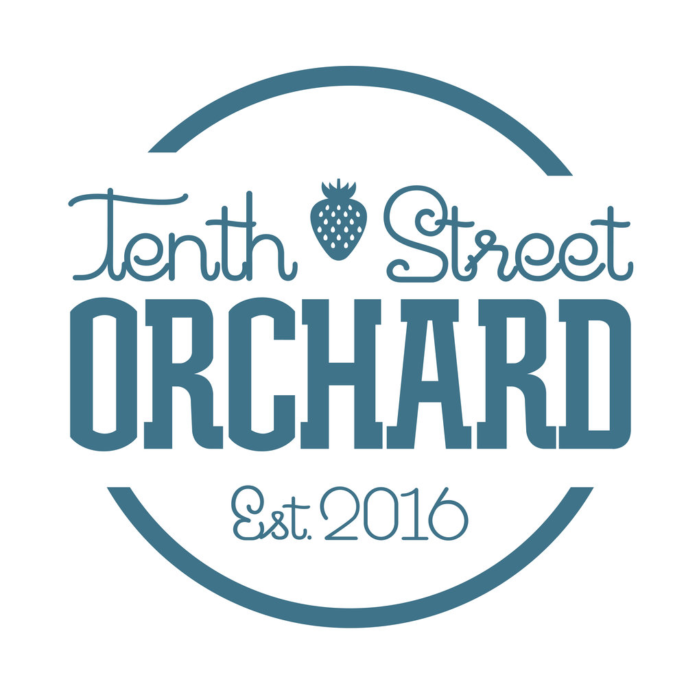 Tenth Street Orchard Logo Lettering