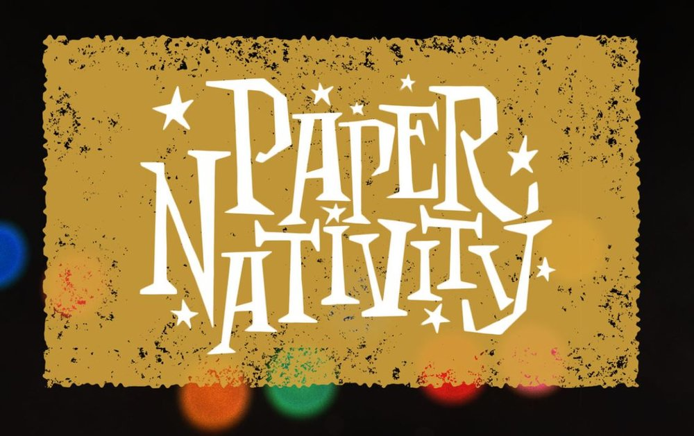 Paper Nativity Lettering