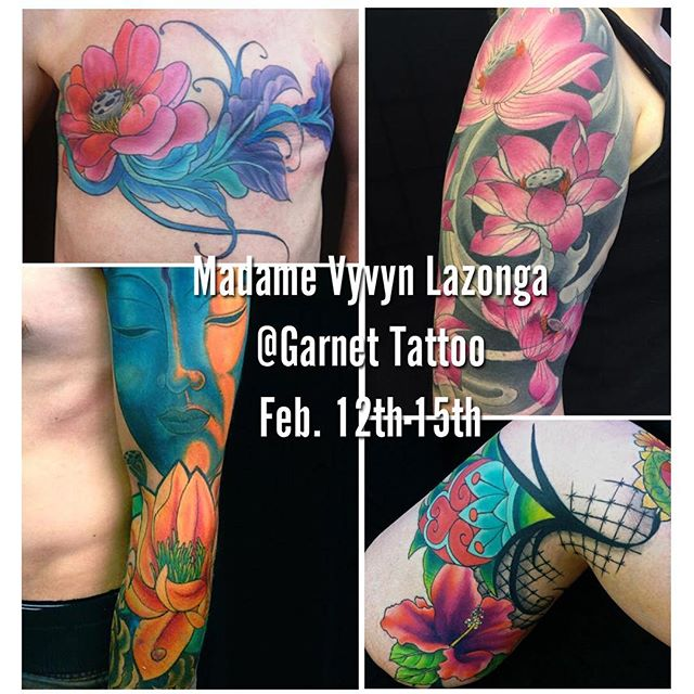 468a69ea2cd75 Seattle's legendary and award winning artist, Madame Vyvyn Lazonga, will be  doing a guest spot at Garnet Tattoo in San Diego, CA.