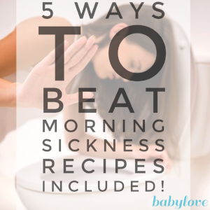 how to stop morning sickness