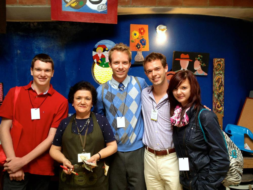Junior Team Canada with Maria Luz Garcia, Volunteer President at CERIC.