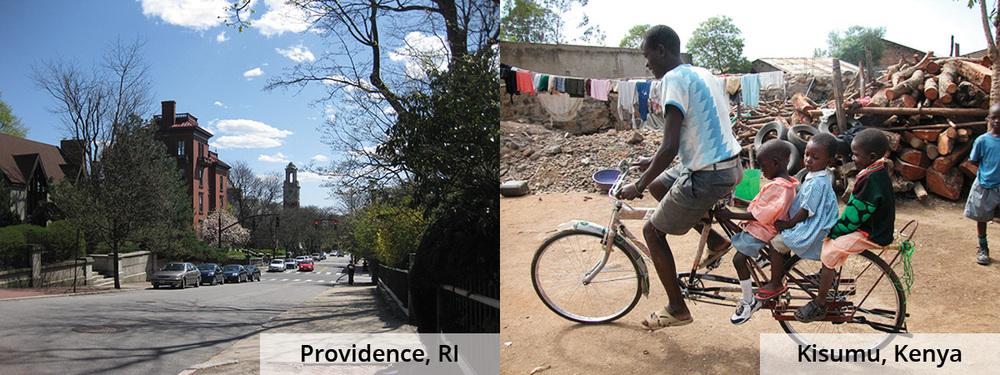 Providence, RI (left) / Kisumu, Kenya (right)