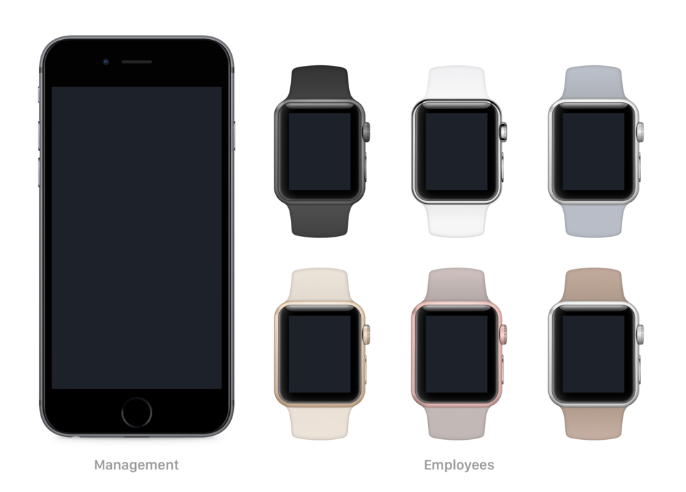 Dough is designed to function primarily on the Apple Watch—employees are able to fully function without the help of the iPhone. Dough for iPhone is primarily for management to assign employees positions, tasks, and store goals.