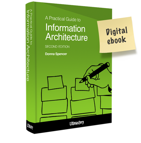 A Practical Guide to Information Architecture, 2nd ed., 2014. Donna Spencer.