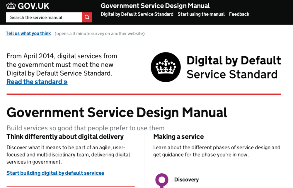 Government Service Design Manual