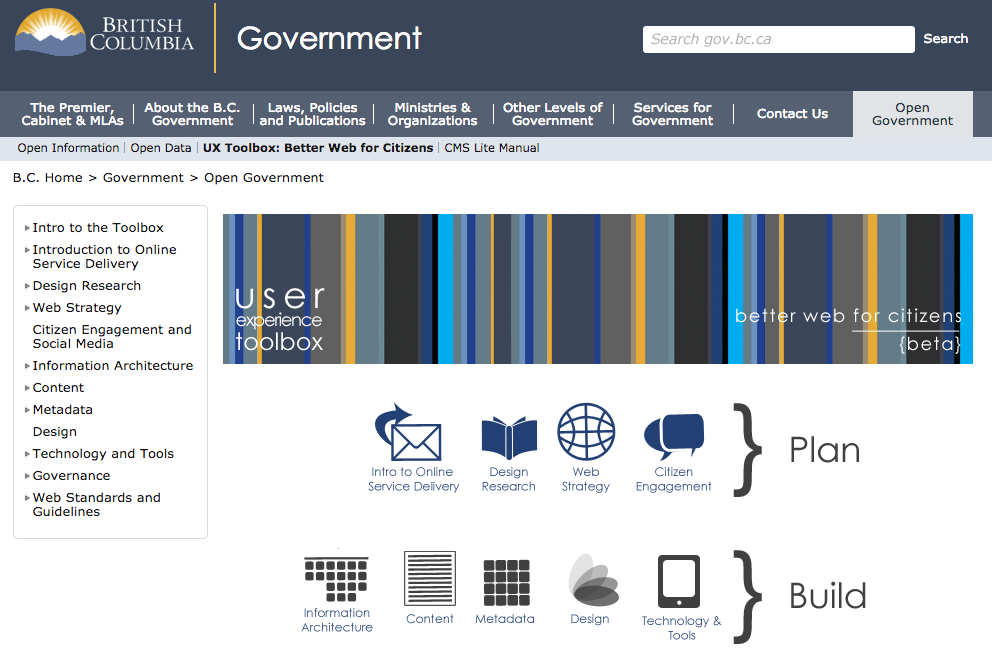 User Experience Toolbox. British Columbia government.