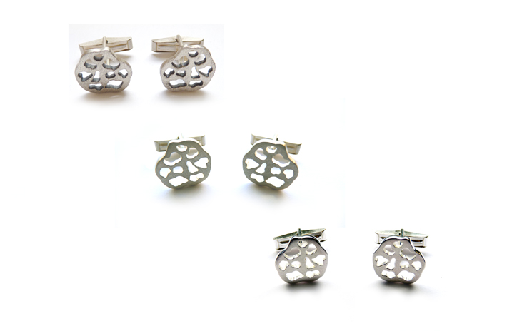 Soar Cufflinks  sterling silver (available in a variety of finishes as pictured)