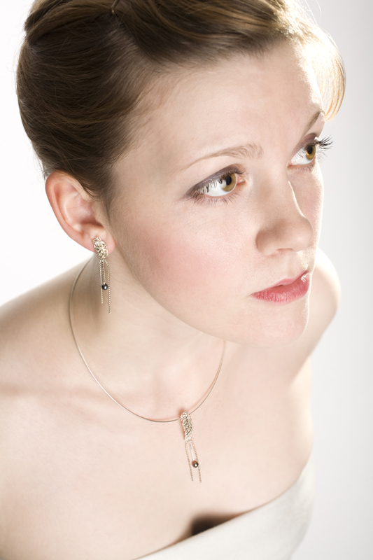 Knit and Pearl Pendant and Earrings   image by PSD Photography