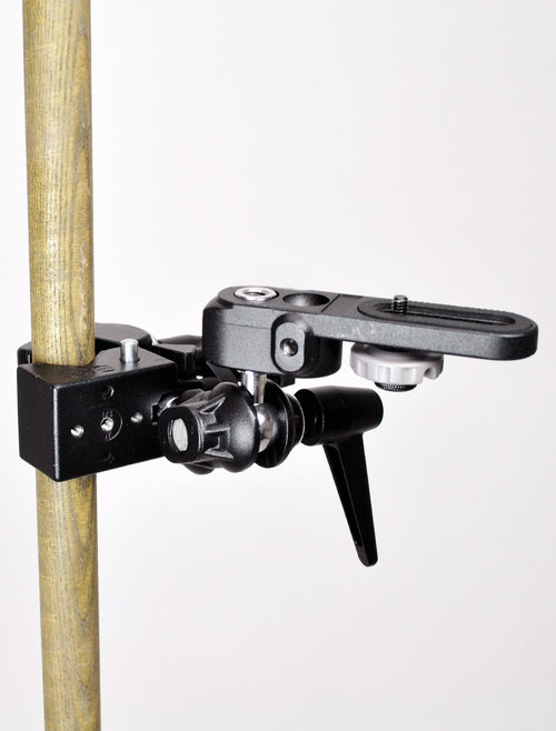 Camera Standard Clamp affixed to pole