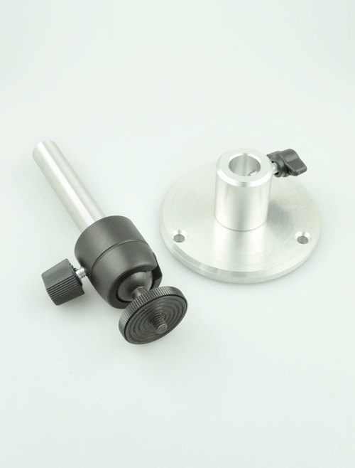 Camera Wall Bracket with ball leveling head on short spindle