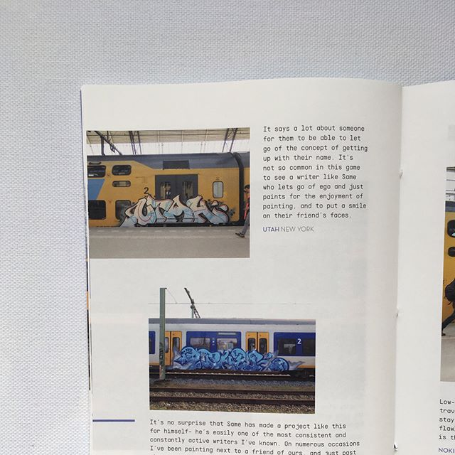 Our good friend Same dedicated a year to painting all his friend's names. The end result is 'NAMES', a really nice zine that you can find over @chemistry.publishing 📖🚊💯