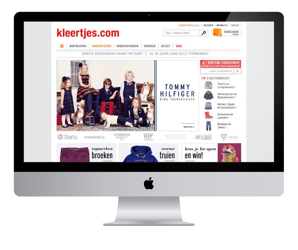 Tommy Hilfiger Homepage design vormgeving
