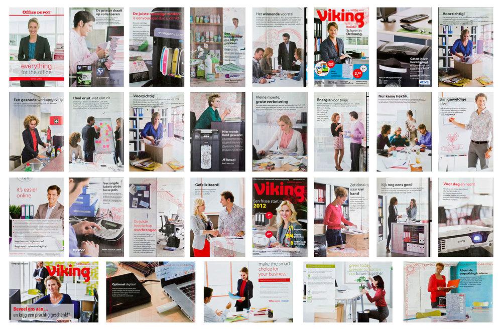 Overzicht van de fotografie in de gerealiseerde pagina's