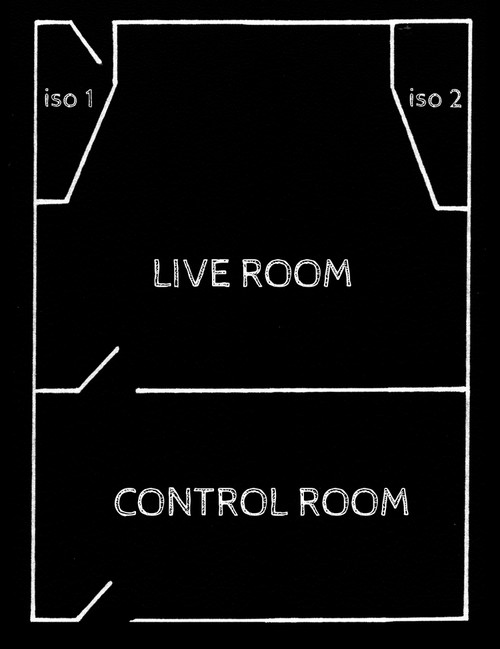 Desert recording studio floor plan